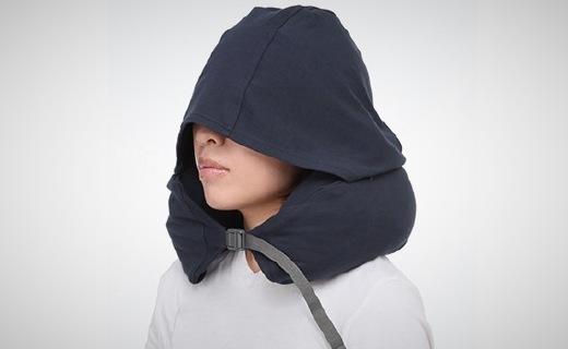 无印良品靠枕:舒适面料柔软贴心,自带帽子隔绝光线