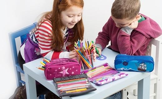Tigerfamily文具笔袋:大容量多分区方便收纳,欧盟检测安全无毒