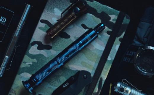 能随身有颜值还能给你安全感的——弘安保罗烧蓝全钢锋芒甩棍