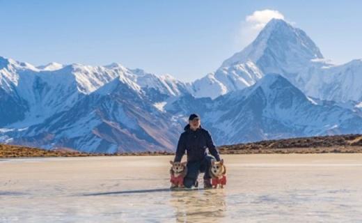 无需内胆,零下10℃重装攀登4900高山冰湖