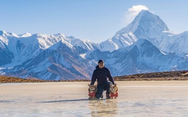 無需內膽,零下10℃重裝攀登4900高山冰湖