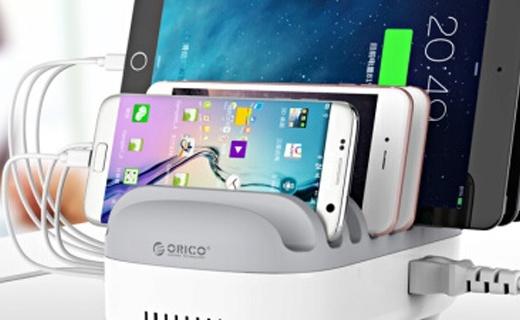 奥睿科10口USB充电器:大电流安全输出,同时能充10个iPad