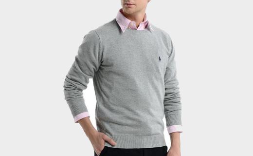 拉夫·劳伦男士毛衫:百搭配色简单剪裁,穿着立体有型