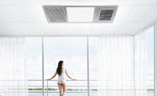 飞利浦三合一浴霸:强力排风,3秒预热,LED柔光照明