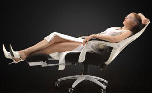 黑白调HDNY090办公椅:人体工学设计,可调整150度背靠