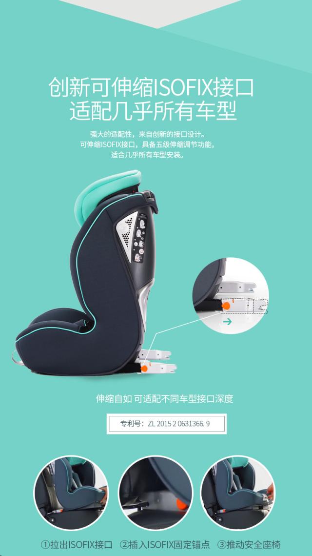 虎贝尔(HBR)ISOFIX安全座椅