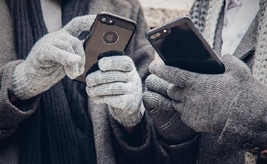 摩仕Digits触控手套:电纤维指尖支持十指触控,细绒内衬保暖防寒