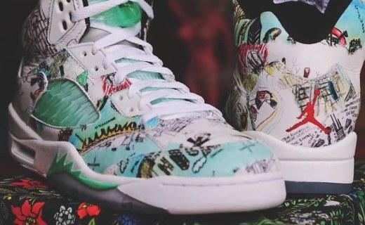 "Air Jordan 5""Wings""终于来了,涂鸦设计太惊艳!"