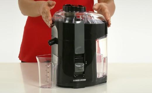 Black&Decker榨汁机:锋利刀片迅猛出汁,汁渣分离好清洗