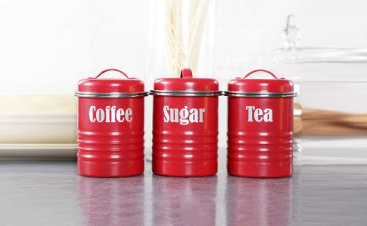 Typhoon储存罐:优质铸锡铁材质,密封硅胶塞保持食物新鲜