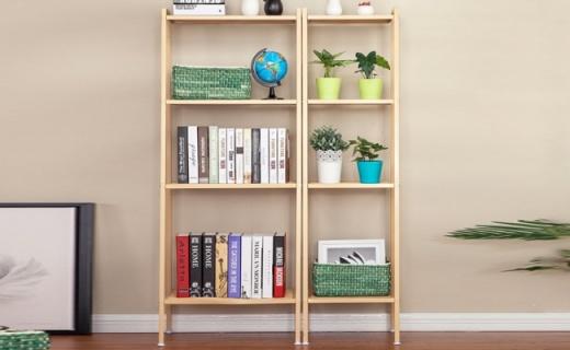心家宜四层书架:坚固耐用又美观,节省空间收纳方便