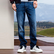 斯莱德(Selected) 男士纯棉水洗 牛仔裤