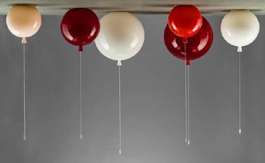 回忆里的气球做成灯,轻松营造浪漫氛围
