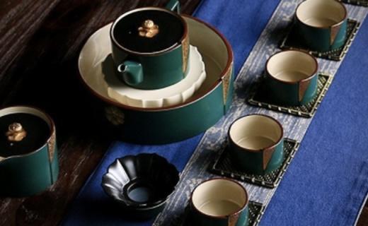 凤朗陶瓷蝉衣茶具:手工拉胚造型优美,喝茶高逼格