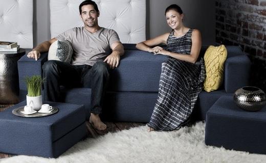 随意变形组合的模块化沙发,客厅一秒变卧室