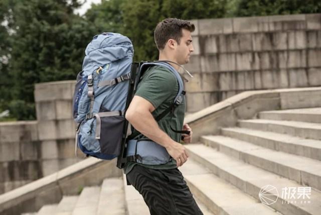 """自带""""减震""""的背包,背多久都不会累,户外旅行必备!"""