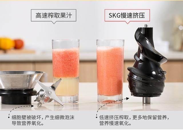 SKG大口径慢榨原汁机