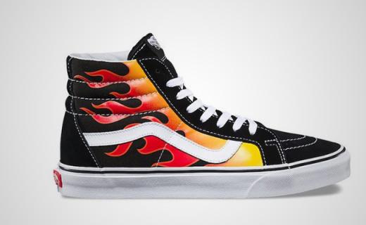 Vans这次在鞋上放了把火,纪念你那如火岁月