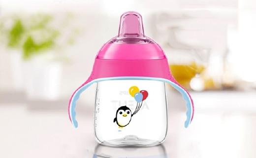 新安怡七安士卡通企鹅杯:200ml容量不含双酚A,锻炼宝宝喝水能力