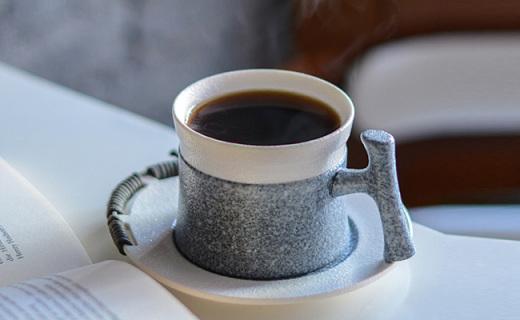无名印象仿石纹咖啡杯套装:仿石纹釉瓷器,保留天然之美