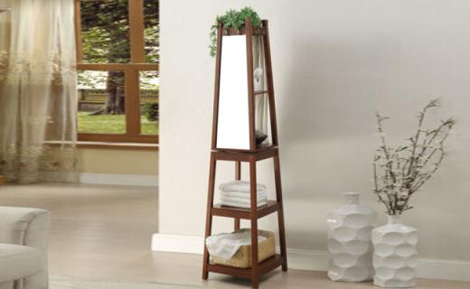 雅客集穿衣镜:优质木材防磨耐用,能当镜子还能收纳