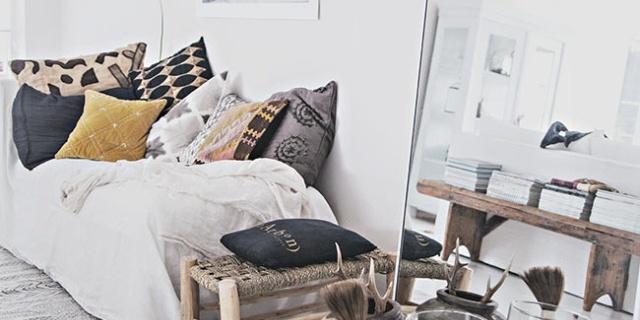 不起眼的抱枕,稍加搭配就能让沙发的颜值逆天