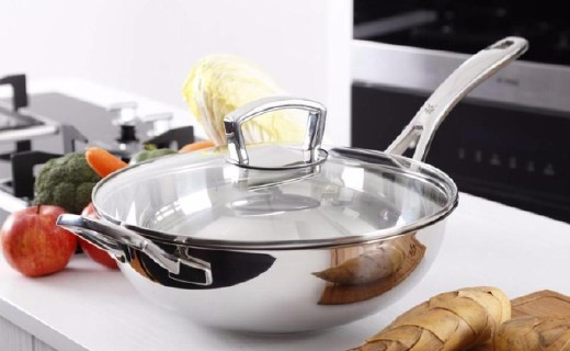 福腾宝中式炒锅:隔热锅柄人性化设计,专利不锈钢卫生耐用