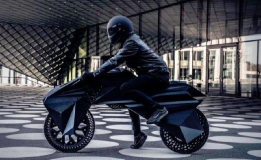 帥到炸街!全球首輛純3D打印的電動摩托車