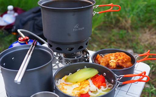 小巧便携易收纳,我的户外移动厨房 — 火枫集热锅套装烹饪体验
