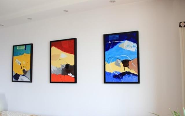 深度感触抽象派手绘,油画《大地之歌》体验