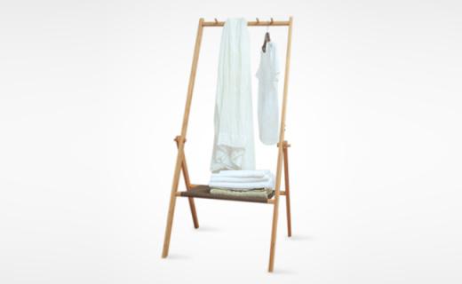 橙舍衣帽架:优质楠木手工打磨,细腻光滑实用性强