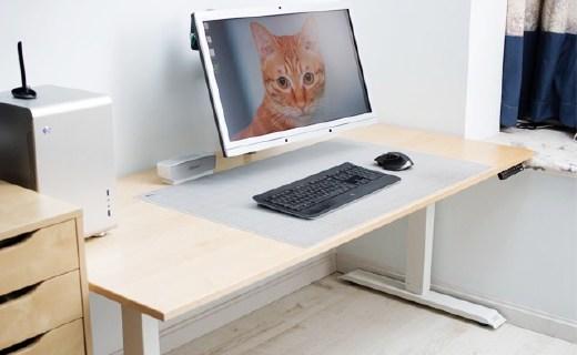 宜家超大电脑桌改造,秒变智能升降办公桌