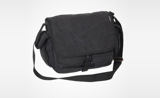 Everest信使包:棉帆布面料柔软耐磨,简约多层好收纳