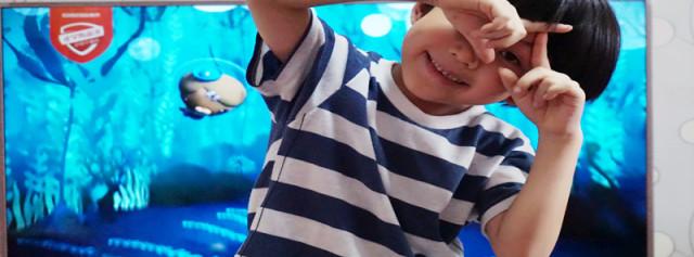 丰富儿童影视资源,防蓝光黑科技电视守护萌娃新视界