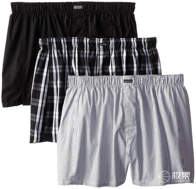 CalvinKlein(卡尔文·克莱恩)男士四角内裤3件装