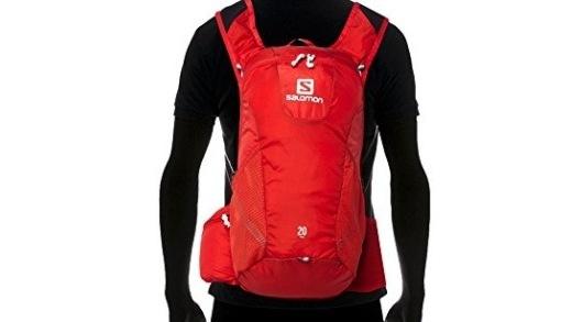 萨洛蒙户外双肩背包:双倍防撕裂尼龙面料,大容量收纳轻松出行