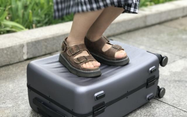 职场萌新少女骑后直说好,必备商旅旅行箱丨视频