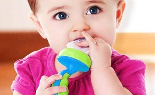 Nuby婴儿辅食咬咬袋:锻炼咀嚼手口协调,无毒无味食品级材质