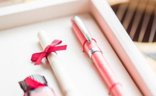 七夕钢笔送最爱,老婆小脸泛微红,意索钢笔金星少女评测