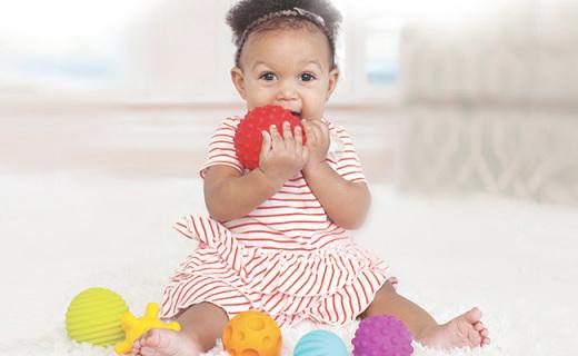 Infantino宝宝手抓球:刺激宝宝触觉感知,锻炼抓握能力