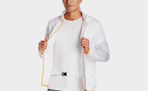 美津浓男士梭织夹克:采用轻量面料,穿着无厚重感