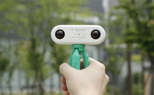 世界首款超便携VR全景相机,4K 3D全给你