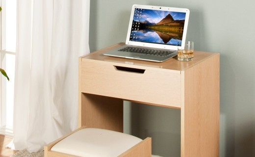 好事达惠梳妆桌椅组合:E1环保板材,多格收纳更方便