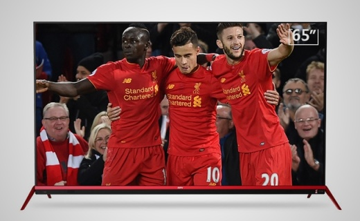 PPTV利物浦球迷定制电视,65寸大屏看比赛更爽