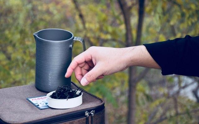 航空铝材茶具轻巧便携,户外也能喝上杯普洱 — 爱路客随心壶套装轻体验