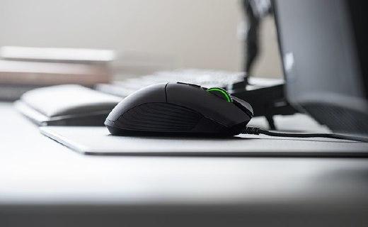 雷蛇新Basilisk款游戏鼠标,8个编程按键可自定义灯光