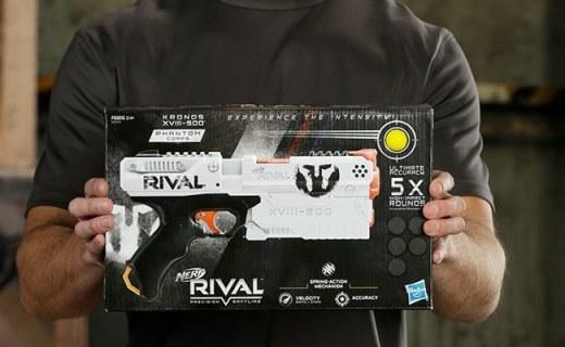 孩之宝 Rival 竞争者系列发射器:橡胶子弹安全无担忧,逼真枪战体验
