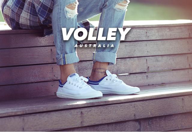 VolleyAustralia经典小白鞋