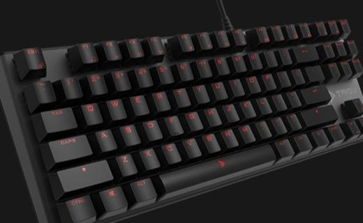 钛度TKM150机械键盘:全键位Cherry MX青轴,高速响应舒适触感