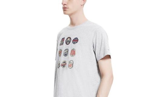 哥伦比亚印花短袖T恤:奥米防水科技吸湿排汗,圆领款时尚百搭